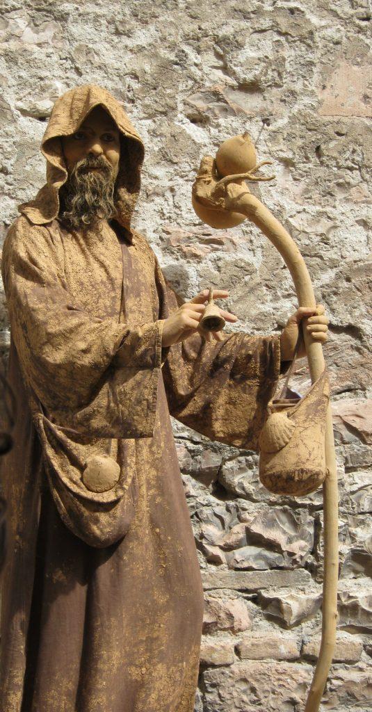Živá socha sv. Františka