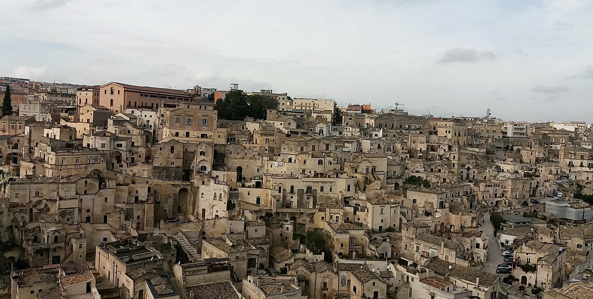 výhľad na Matera